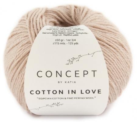 Пряжа для вязания и рукоделия Cotton in Love (Katia) цвет 52, 115 м
