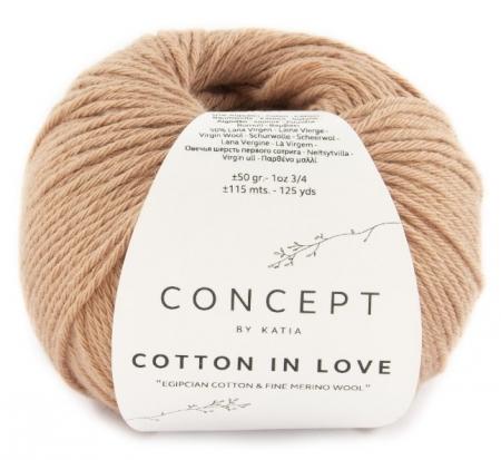 Пряжа для вязания и рукоделия Cotton in Love (Katia) цвет 55, 115 м