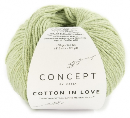 Пряжа для вязания и рукоделия Cotton in Love (Katia) цвет 58, 115 м