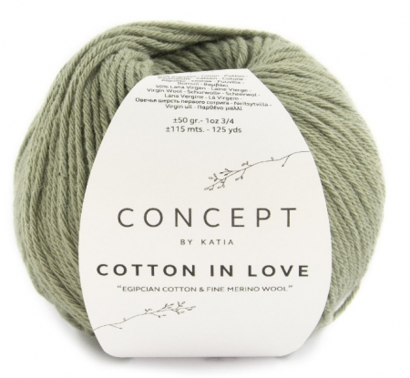 Пряжа для вязания и рукоделия Cotton in Love (Katia) цвет 59, 115 м