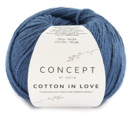 Пряжа для вязания и рукоделия Cotton in Love (Katia) цвет 63, 115 м