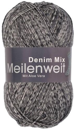 Пряжа для вязания и рукоделия Meilenweit 100 Denim Mix (Lana Grossa) цвет 7811, 420 м