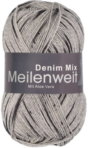 Пряжа для вязания и рукоделия Meilenweit 100 Denim Mix (Lana Grossa) цвет 7812, 420 м