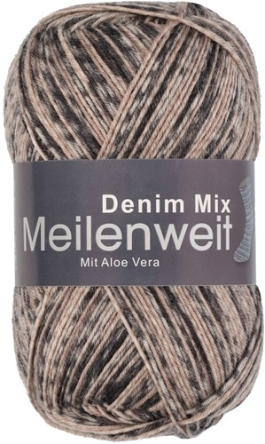 Пряжа для вязания и рукоделия Meilenweit 100 Denim Mix (Lana Grossa) цвет 7813, 420 м