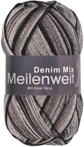 Пряжа для вязания и рукоделия Meilenweit 100 Denim Mix (Lana Grossa) цвет 7814, 420 м