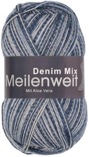 Пряжа для вязания и рукоделия Meilenweit 100 Denim Mix (Lana Grossa) цвет 7816, 420 м