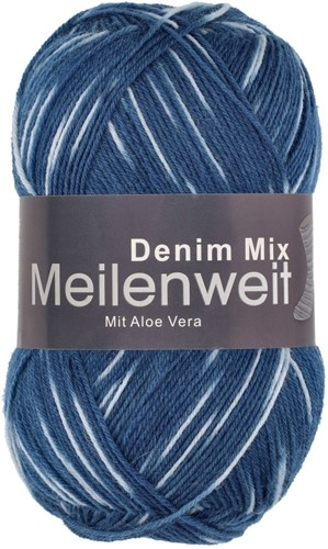 Пряжа для вязания и рукоделия Meilenweit 100 Denim Mix (Lana Grossa) цвет 7817, 420 м