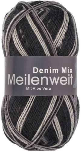 Пряжа для вязания и рукоделия Meilenweit 100 Denim Mix (Lana Grossa) цвет 7819, 420 м