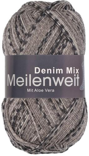 Пряжа для вязания и рукоделия Meilenweit 100 Denim Mix (Lana Grossa) цвет 7820, 420 м