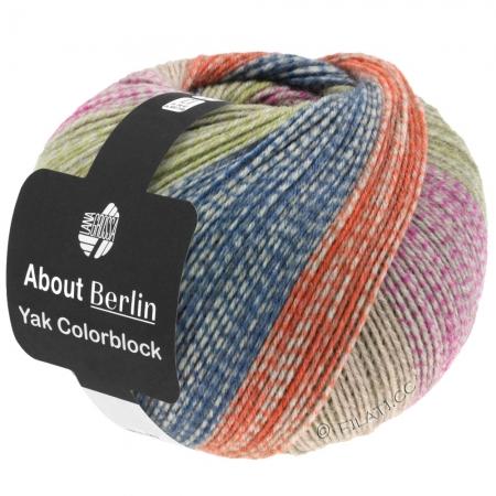 Пряжа для вязания и рукоделия About Berlin Yak ColorBlock (Lana Grossa) цвет 631, 420 м