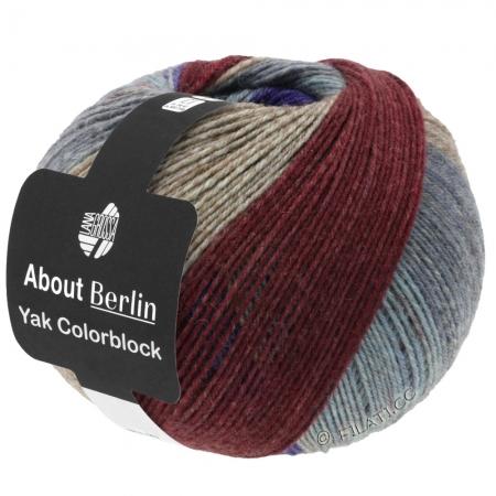 Пряжа для вязания и рукоделия About Berlin Yak ColorBlock (Lana Grossa) цвет 632, 420 м