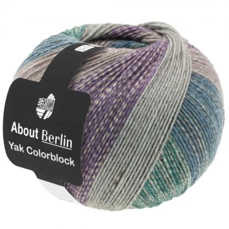 Пряжа для вязания и рукоделия About Berlin Yak ColorBlock (Lana Grossa) цвет 633, 420 м