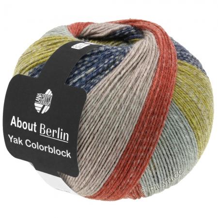 Пряжа для вязания и рукоделия About Berlin Yak ColorBlock (Lana Grossa) цвет 634, 420 м