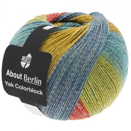 Пряжа для вязания и рукоделия About Berlin Yak ColorBlock (Lana Grossa) цвет 635, 420 м