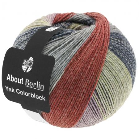 Пряжа для вязания и рукоделия About Berlin Yak ColorBlock (Lana Grossa) цвет 636, 420 м