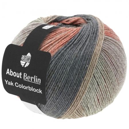 Пряжа для вязания и рукоделия About Berlin Yak ColorBlock (Lana Grossa) цвет 637, 420 м