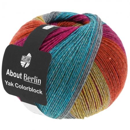 Пряжа для вязания и рукоделия About Berlin Yak ColorBlock (Lana Grossa) цвет 638, 420 м