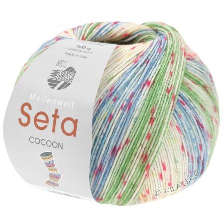 Пряжа для вязания и рукоделия Meilenweit 100 Seta COCOON (Lana Grossa) цвет 3351, 420 м