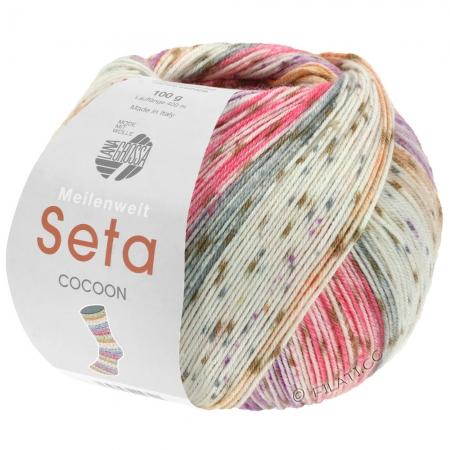 Пряжа для вязания и рукоделия Meilenweit 100 Seta COCOON (Lana Grossa) цвет 3352, 420 м