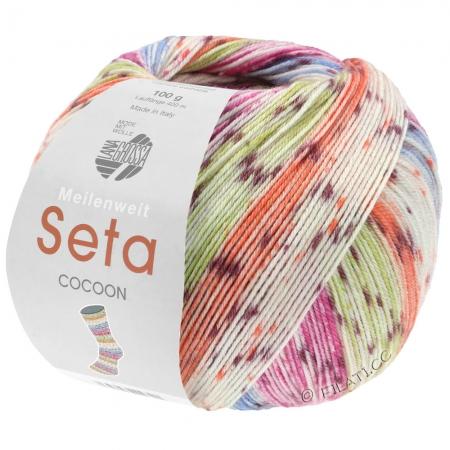 Пряжа для вязания и рукоделия Meilenweit 100 Seta COCOON (Lana Grossa) цвет 3354, 420 м