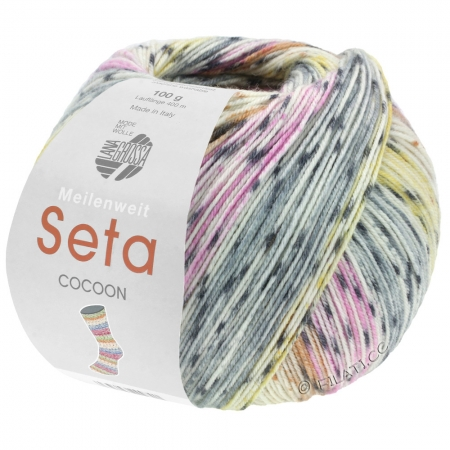 Пряжа для вязания и рукоделия Meilenweit 100 Seta COCOON (Lana Grossa) цвет 3355, 420 м