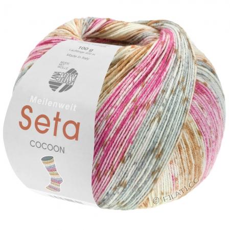 Пряжа для вязания и рукоделия Meilenweit 100 Seta COCOON (Lana Grossa) цвет 3357, 420 м