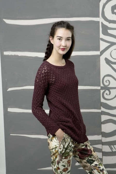 Летний свитер из пряжи Lang Yarns Gamma