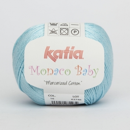 Пряжа для вязания и рукоделия Monaco Baby (Katia) цвет 16, 170 м