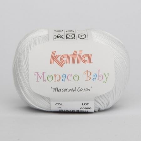 Пряжа для вязания и рукоделия Monaco Baby (Katia) цвет 01, 170 м