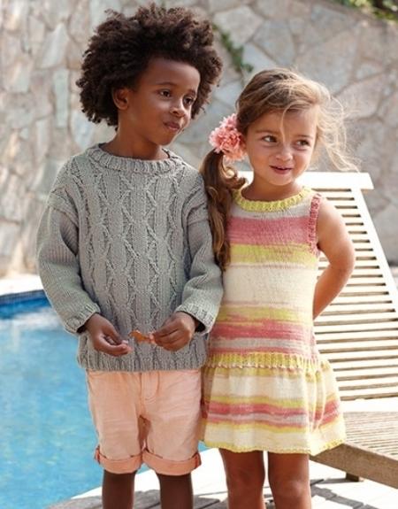 Платье для девочки из пряжи Katia Degrade Sun