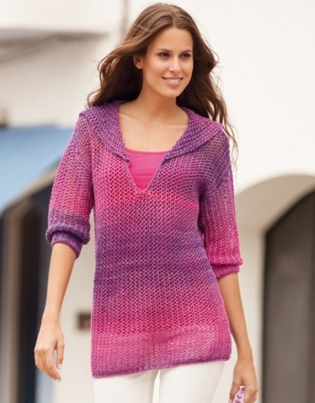 Пуловер из пряжи Katia Degrade Sun