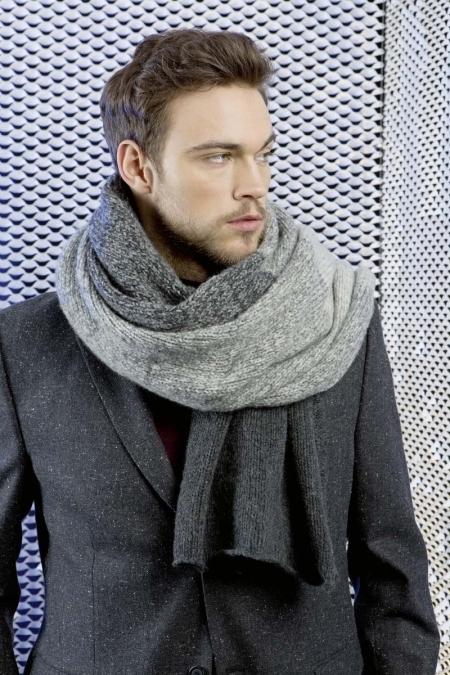 Мужской шарф из пряжи Lang Yarns Nova