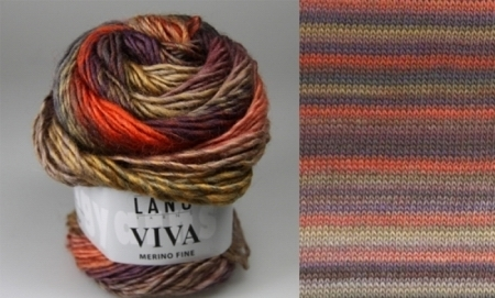 Пряжа для вязания и рукоделия Viva (Lang Yarns) цвет 0075, 105 м