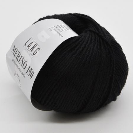 Пряжа для вязания и рукоделия Merino 150 (Lang Yarns) цвет 0004, 150 м