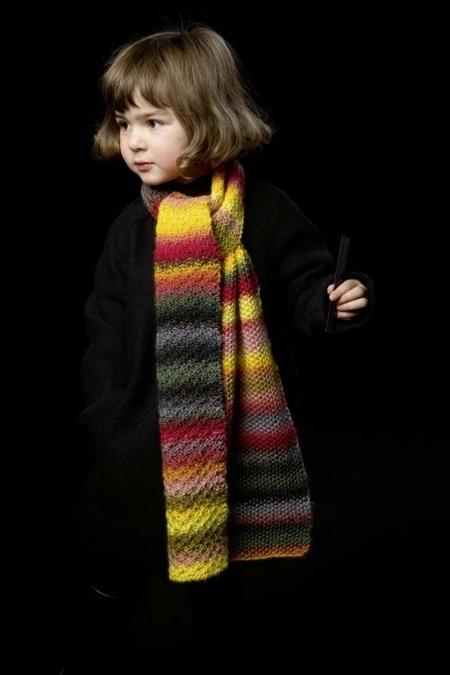 Детский осенний шарф из пряжи Lang Yarns Viva