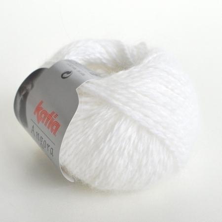 Пряжа для вязания и рукоделия Angora 100% (Katia) цвет 1, 50 м