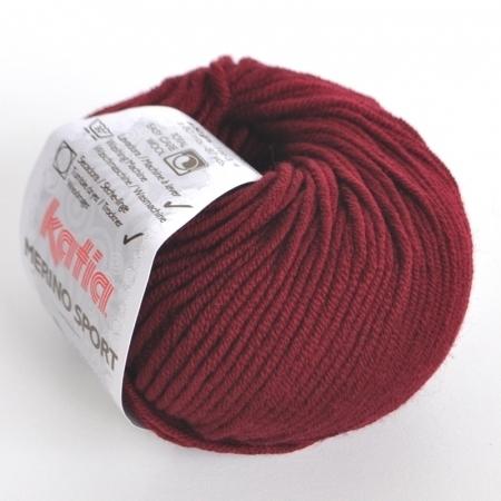 Пряжа для вязания и рукоделия Merino Sport (Katia) цвет 22, 80 м