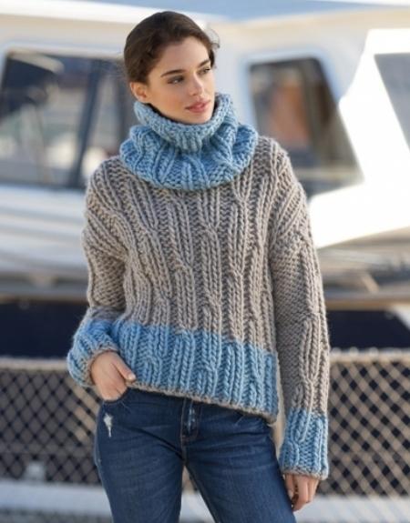 Свитер из пряжи Katia Love Wool