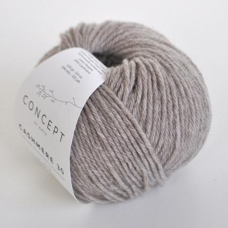 Пряжа для вязания и рукоделия Cashmere 30 (Katia) цвет 201, 94 м