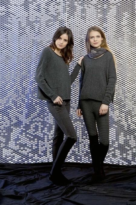 Широкий пуловер из пряжи Lang Yarns Nova