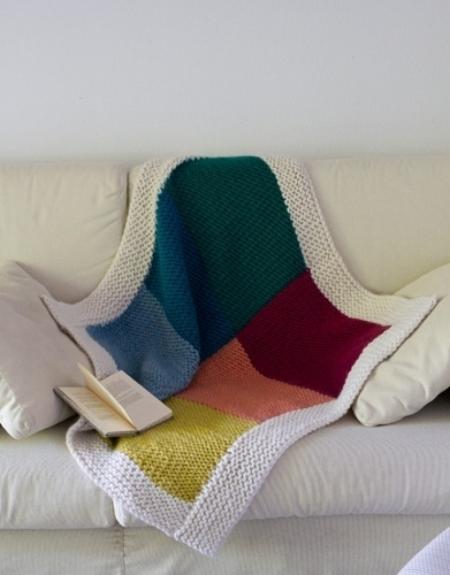 Плед из пряжи Katia Love Wool
