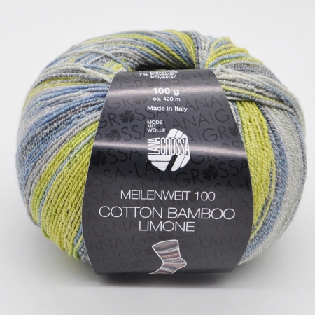 Lana Grossa Meilenweit 100 Cotton Bamboo Limon
